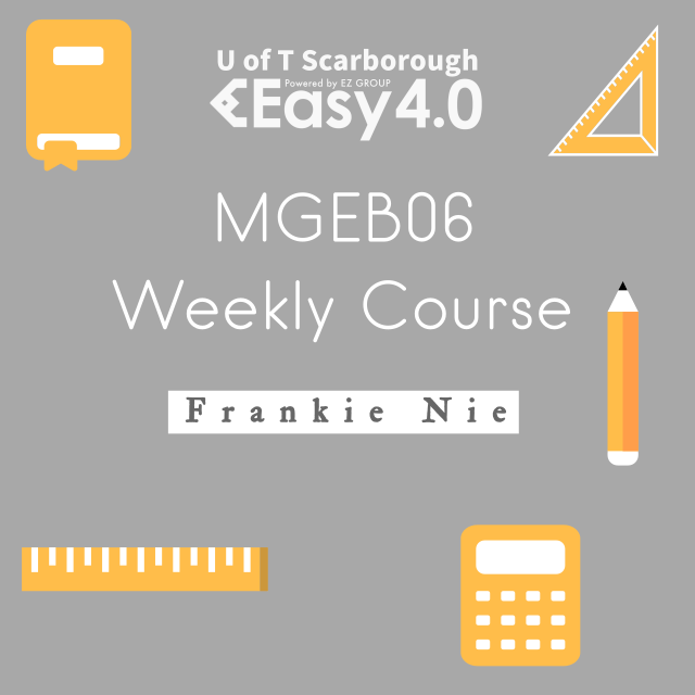 2019 Summer MGEB06 Weekly Course
