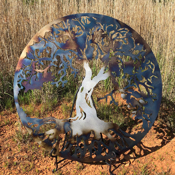 Tree of life- rustic blue