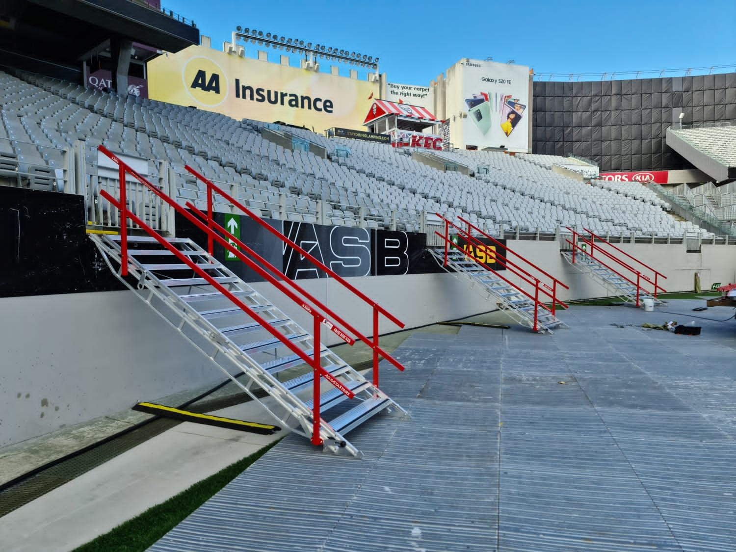 Access stairs for stadium grandstand
