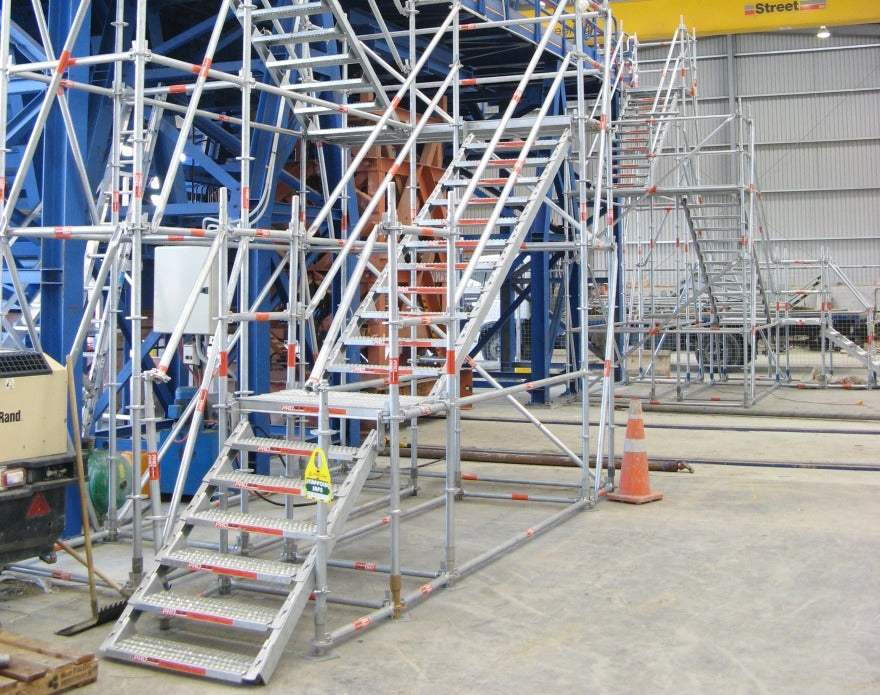 safe stairways for scaffolding