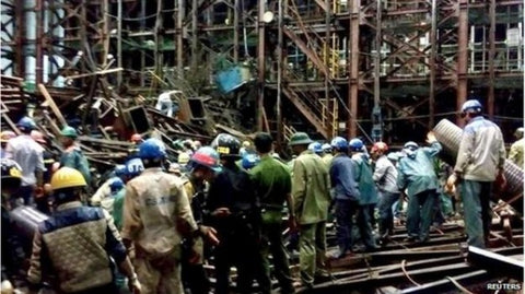 Fatal Scaffolding Collapse In Vietnam