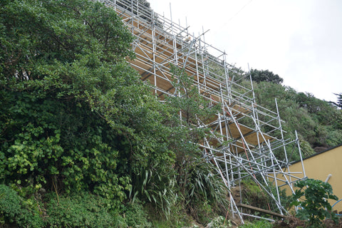 scaffolding on mountain