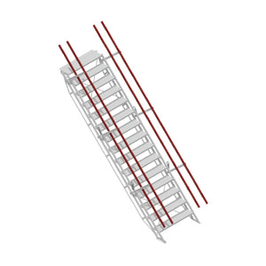 ADJUSTASTAIRS 600MM WIDE ALUMINIUM