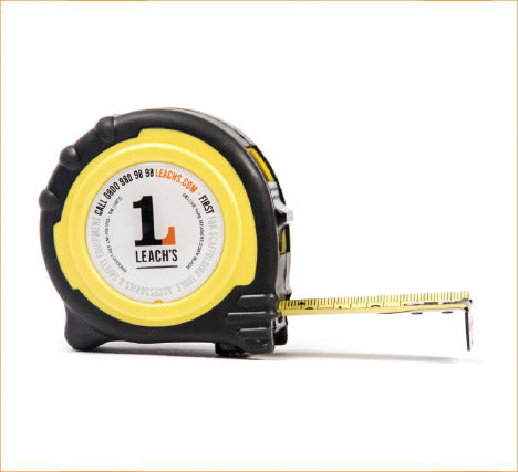 Leach's Double Sided Tape Measure Rubber Enclosed Case