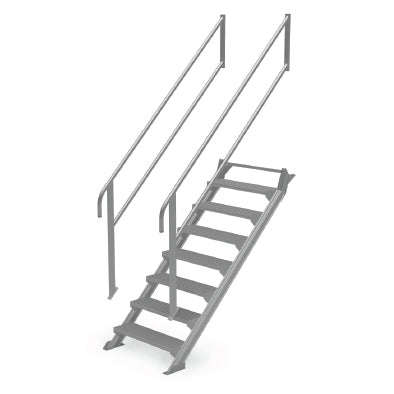 Modular Step-over 45 Degree Stairs