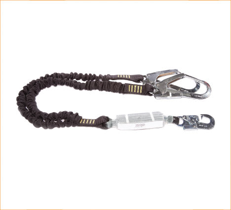 Zero Double Elasticated Lanyard with Snap Hook & Scaffold Hooks