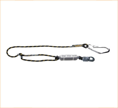 Zero Single Adjustable Rope Lanyard with Snap Hook & Scaffold Hook