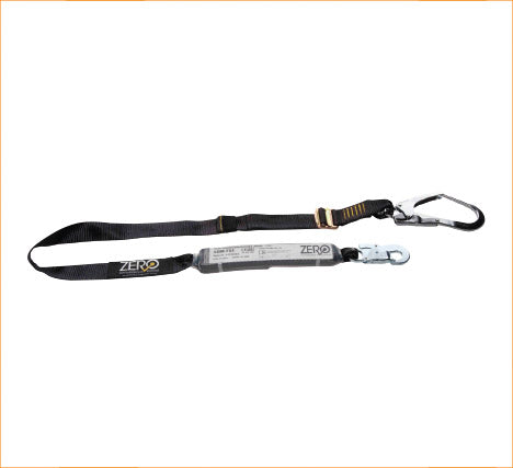 Zero Single Adjustale Webbing Lanyard with Snap Hook & Scaffold Hood