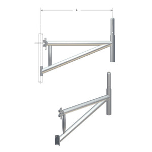CANTILEVER BRACKETS, TUBULAR - SafeSmart Access