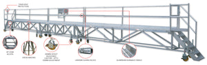 Aluminium Access Platform with Lanyard Line and Double Connection Points - 16m