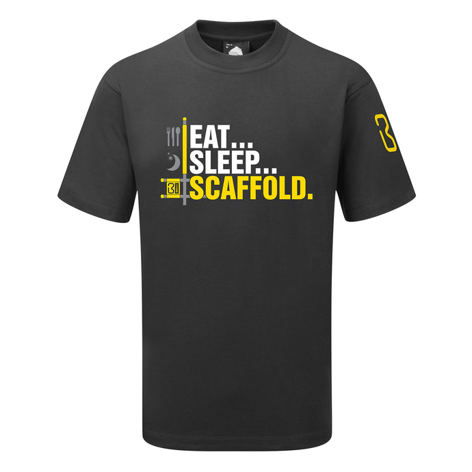 BIG BEN EAT, SLEEP, SCAFFOLD T-SHIRT