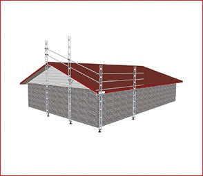 EASYRAIL HALF GABLE END & 6.0M OF STRAIGHT EDGE PROTECTION ASTRID APPROVED