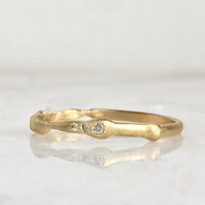 GOLD + DIAMOND ORGANIC BAND