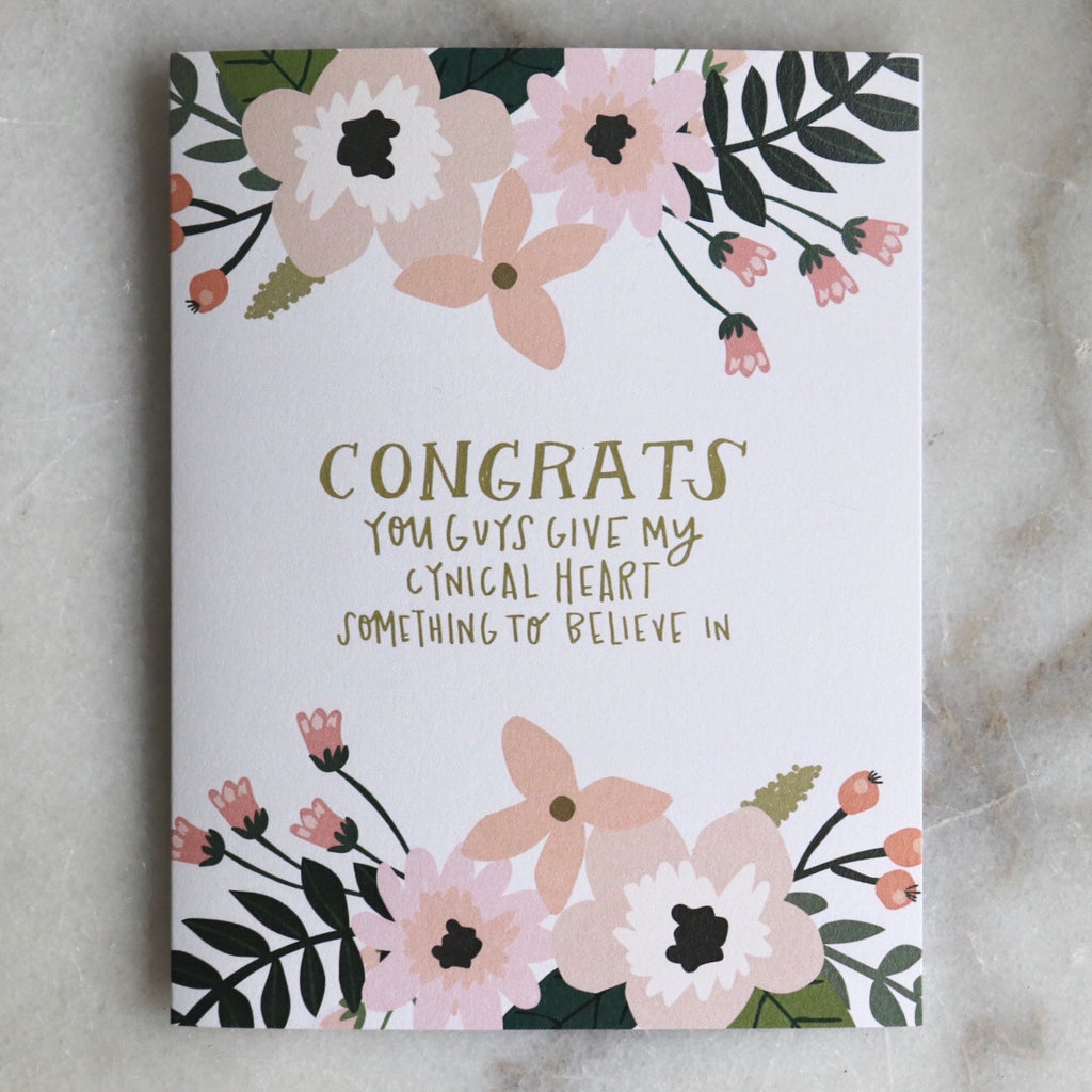 Congrats- Cynical Heart Card