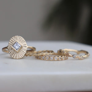 Pebble Diamond Wedding Band