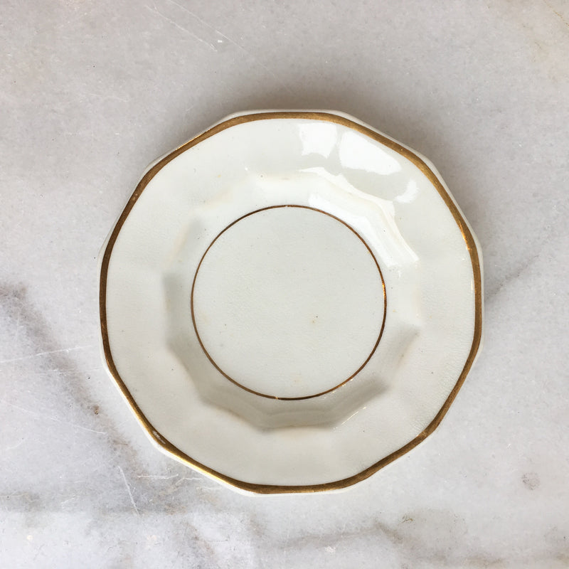 Vintage Gold Jewelry Dish