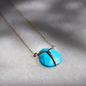 Turquoise Lucky Scarab Necklace