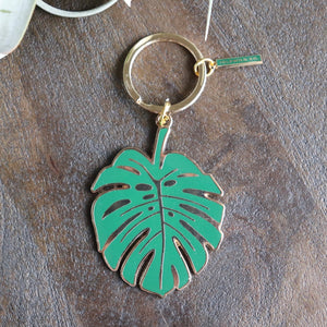 Monstera Keychain