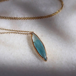 Stormy Aquamarine Necklace