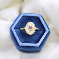 Pink Diamond Golden Rays Ring