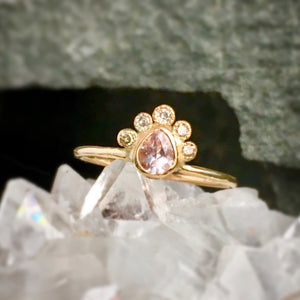 Morganite + Diamond Ring