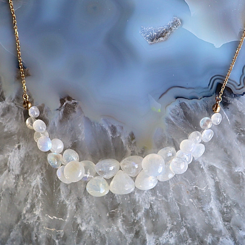 Moonstone Caviar Scoop Necklace