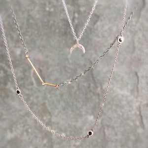 DIAMOND CRESCENT MOON NECKLACE from $428 & $220
