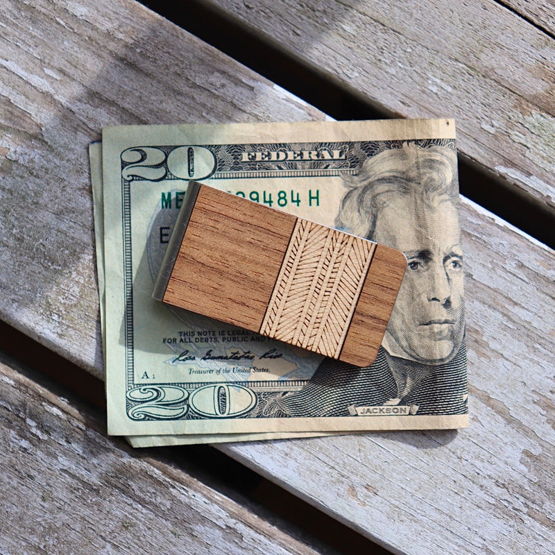 Patterned Money Clip