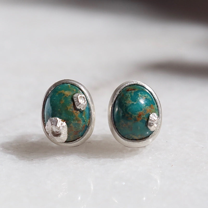 Hunter Turquoise Ruthie B Barnacle Studs