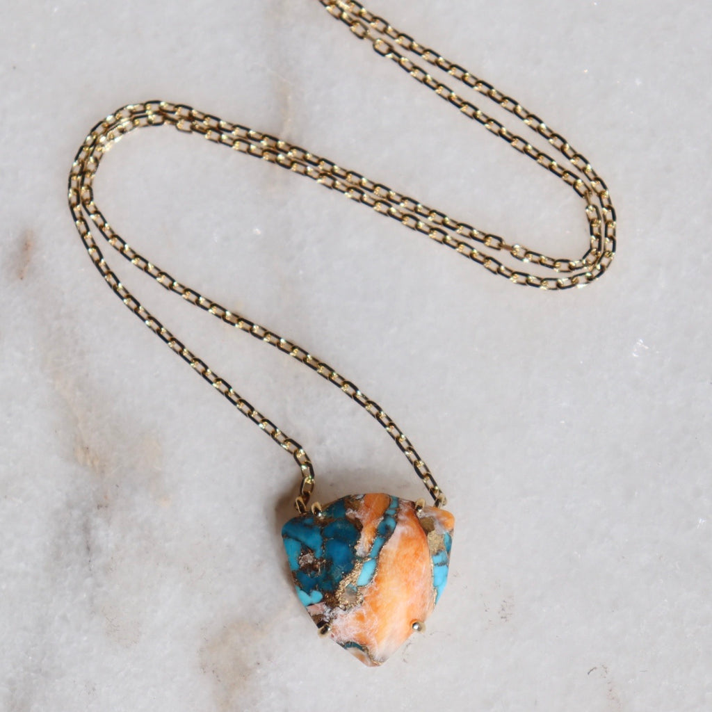 Halcott Necklace- Oyster Turquoise