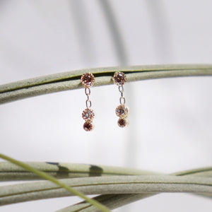 Diamond Loam Droplet Earring (single or pair)