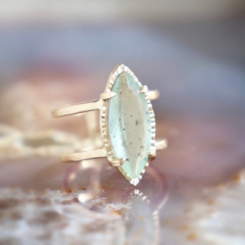 On sale from $745 Moss Aquamarine + Gold Ring