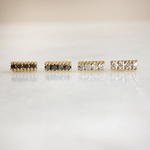 Diamond + Gold Beam Stud (Single)