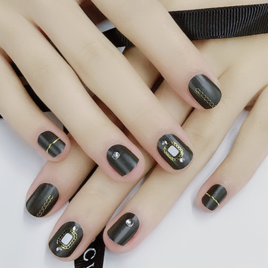 【In-Stock】Dark Mirror Nail Stickers