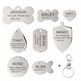 Titanium Steel ID Tag - Puppernaut Dog Supplies