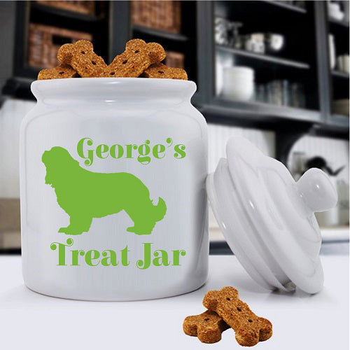 Personalized Classic Silhouette Dog Treat Jar - Puppernaut Dog Supplies