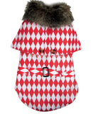 Checkerboard Winter Coat - Puppernaut Dog Supplies