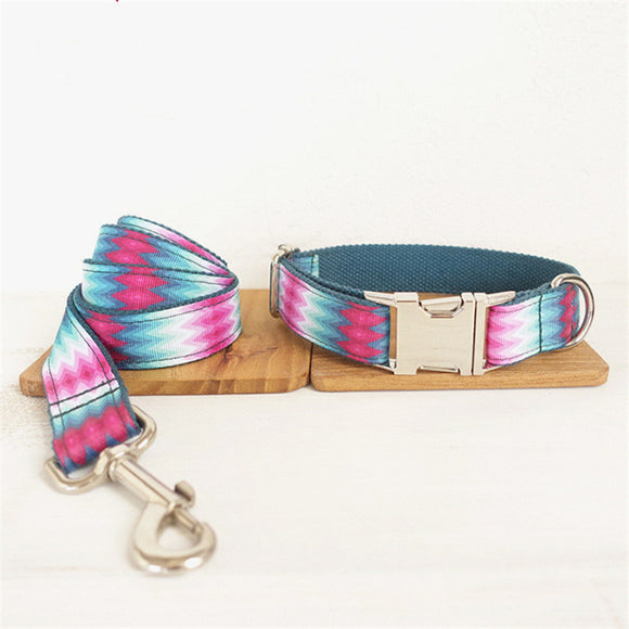 Tie Dye Rainbow Collar - Puppernaut Dog Supplies