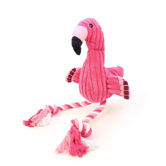 Plush Flamingo - Puppernaut Dog Products