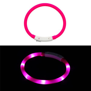 Rechargeable Flashing Night Dog Collars - Puppernaut Dog Products