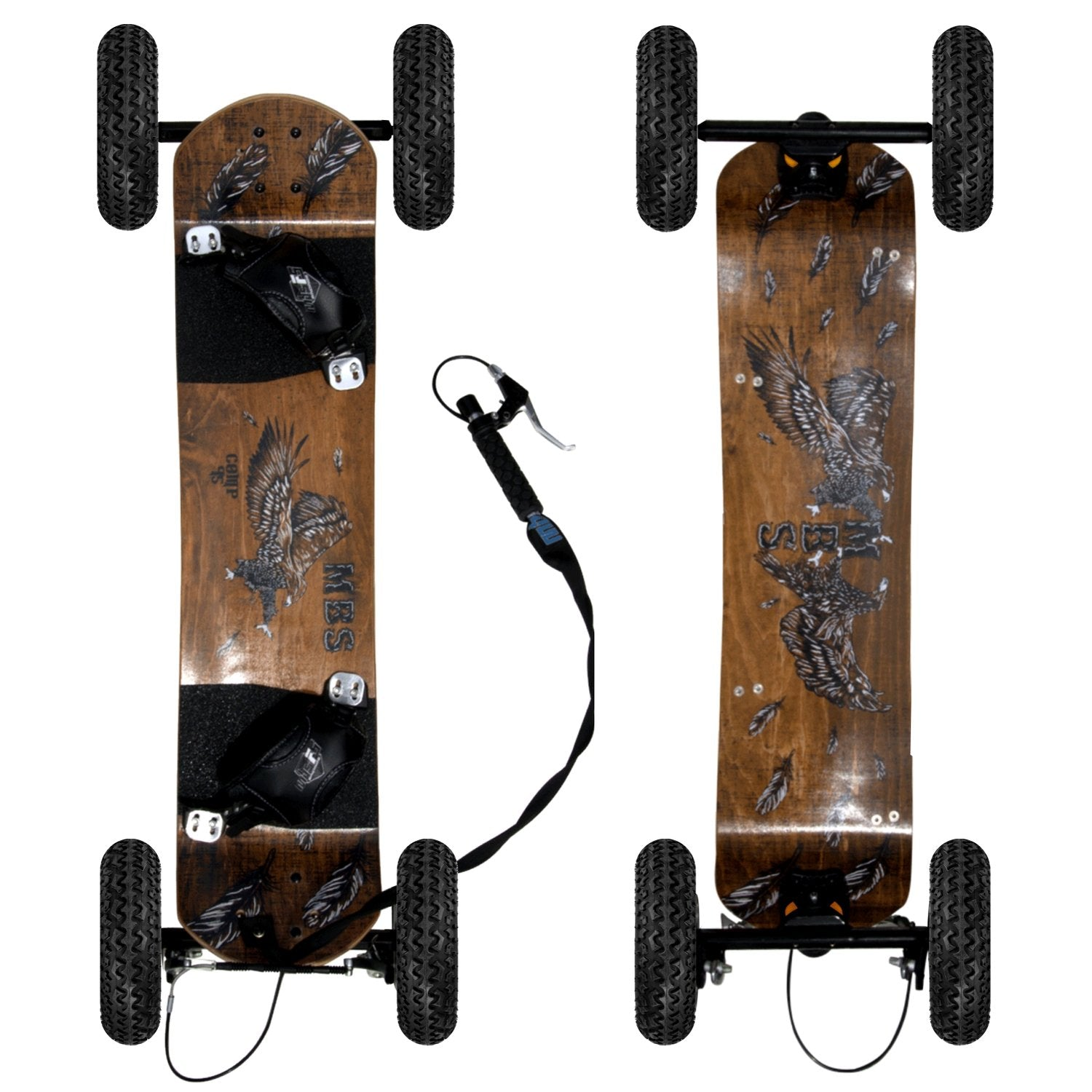 MBS Comp 95X Mountainboard - Birds - Mountainboard Ridetique.com
