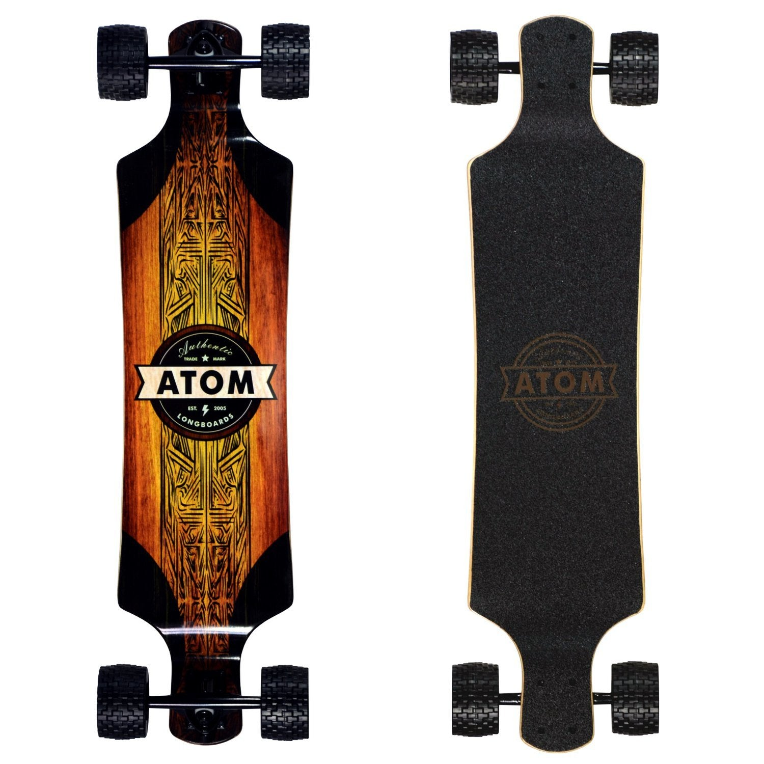 Atom All-Terrain Drop Deck Longboard - 39 Inch - Longboard Ridetique.com