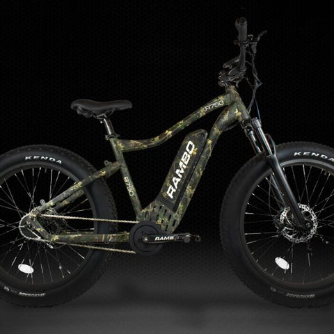 RAMBO ROAMER 750W XC XTREME FRONT SUSPENSION TRUE TIMBER VIPER WOODLAND - Electric Bike Ridetique.com