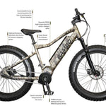 RAMBO NOMAD 750W XPC11 TRUE TIMBER VIPER WESTERN XTREME PERFORMANCE - Electric Bike Ridetique.com