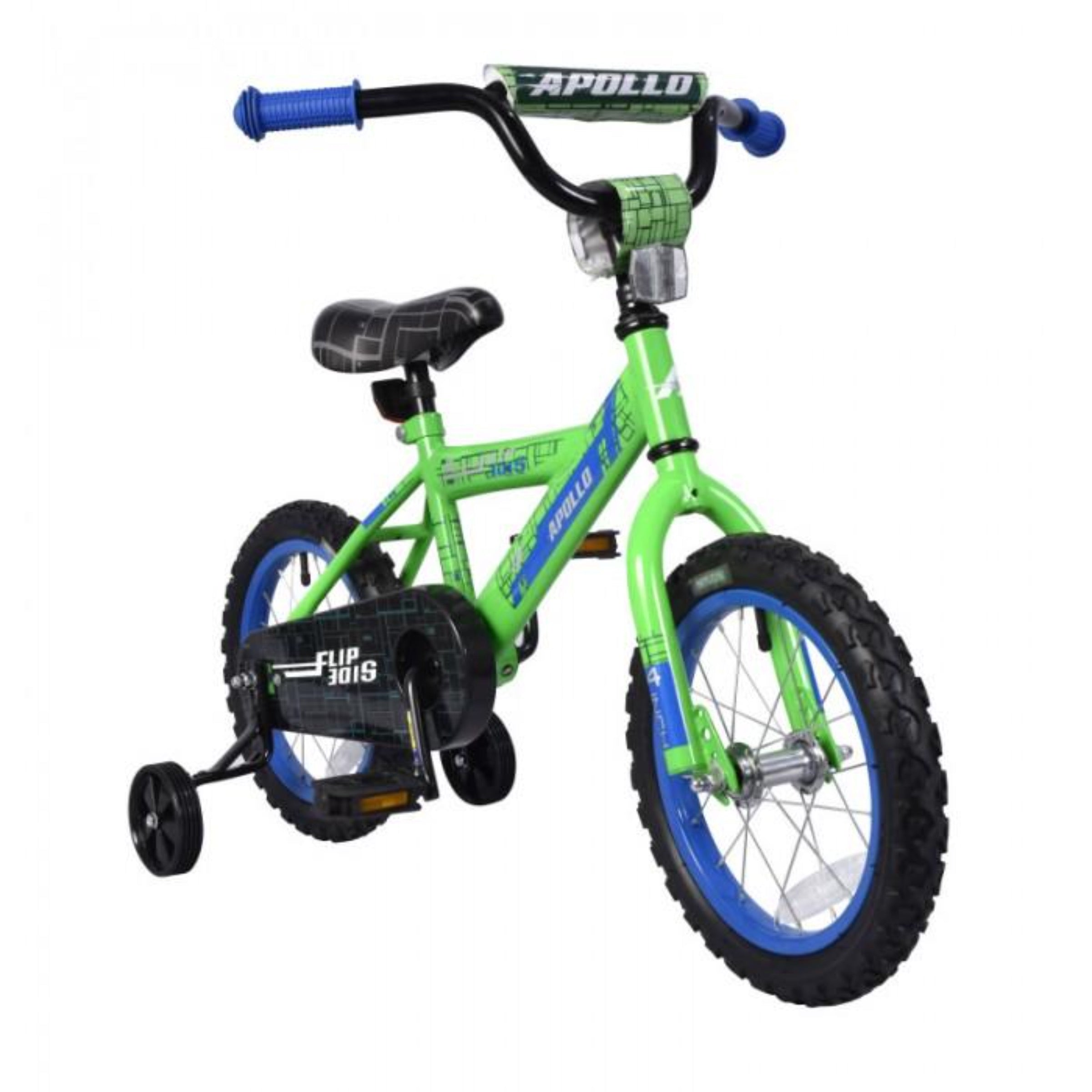 Apollo | Flipside 14 in Boys Green Kids Bicycle