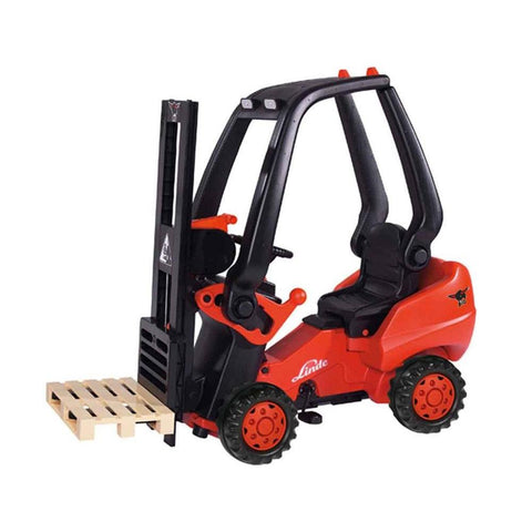 Big Linde Forklift - Fun Lifting Action - Ride On Toys Ridetique.com
