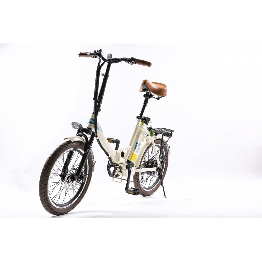 GreenBike Electric Motion  - Classic LS 350w 36 v Folding Bike - Electric Bike Creme Ridetique.com