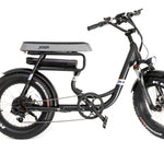 GreenBike Electric Motion - Mule - 2 Seater Fat Tire - 500w - Electric Bike Black Ridetique.com