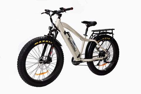 BAKCOU FLATLANDER - Hub Drive 750w 48v Electric Fat Tire Hunting Bike