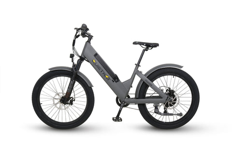 "QuietKat 2020 Villager - Electric Urban City Bike - Electric Bike 16"" / Charcoal Ridetique.com"